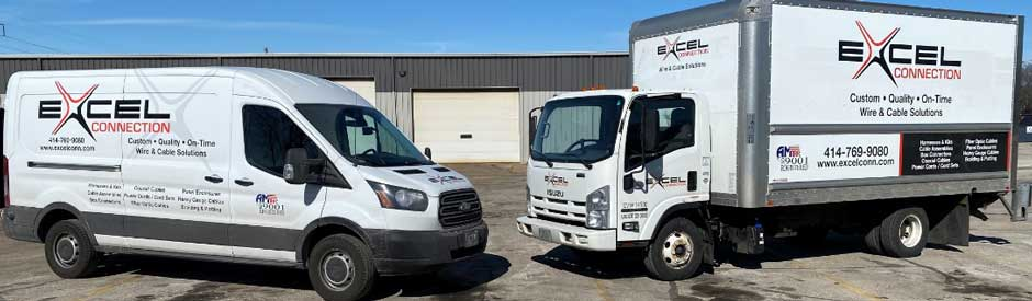 Excel Connection delivery trucks serve the greater Milwaukee region
